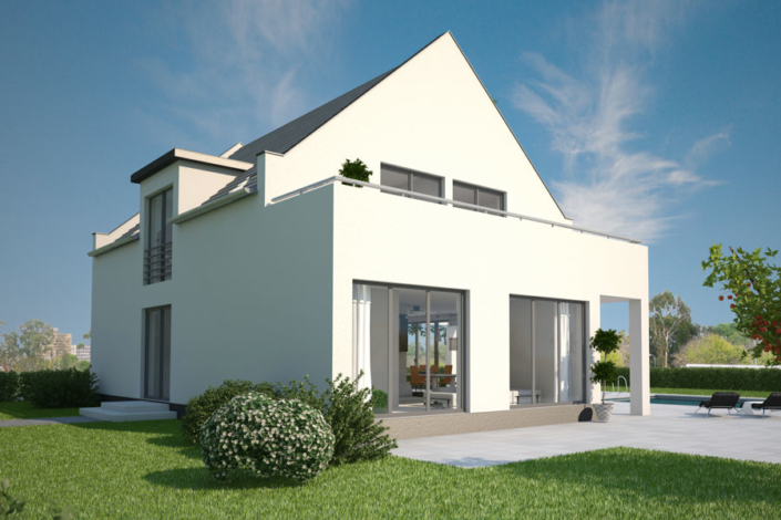 Ein modernes Einfamilienhaus der Firma ARGE-HAUS