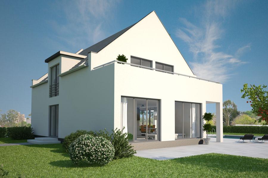 Moderne-Einfamilienhaus-Architektur - ARGE-HAUS Hausbau