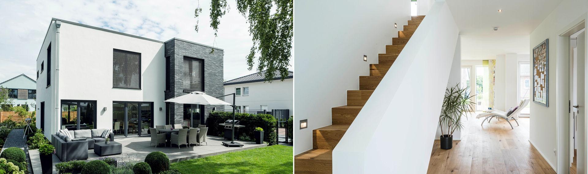 Ihr Einfamilienhaus in moderner Bauhaus Architektur.