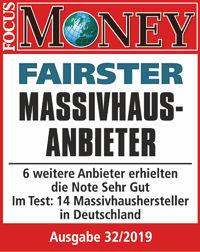 ARGE-HAUS ist Ihr Fairster Massivhausanbieter laut einer Umfrage bei Focus Money.