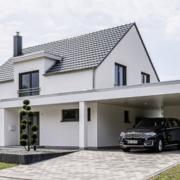 Moderne und zeitgemäße Hausbau Architektur.