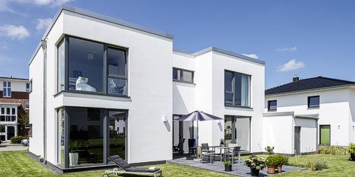 Huasbau in moderner Architektur der Firma ARGE-HAUS.