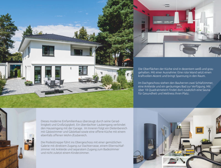 Eine moderne Stadtvilla der Firma ARGE-HAUS.